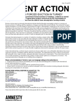 Urgent Action- Families Facing Forced Eviction in Turkey