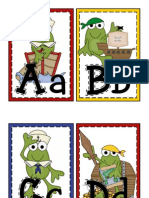 Froggy Alphabet for Word Wall