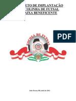 Projeto Escolinha de Futsal