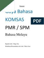 Senarai Gaya Bahasa KOMSAS PMR/SPM