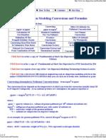 Conversions and Formulas