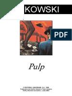 Pulp- Charles Bukowski