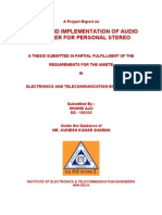Design and Implementation of Audio Amplifiers