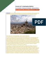 La Historia de Cochabamba Bolivia