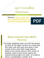 Primary Crystalline Structures
