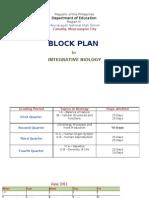 Block Plan in Biology SEC 2011 2012