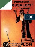 Tharaud Jérome & Jean - L'an prochain à Jérusalem