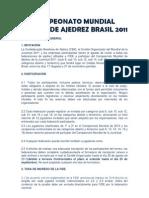 Bases del Campeonato Mundial Juvenil de Ajedrez - Brasil 2011