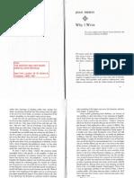 Why I Write - Joan Didion