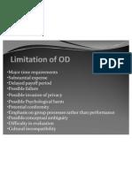 Limitation of OD