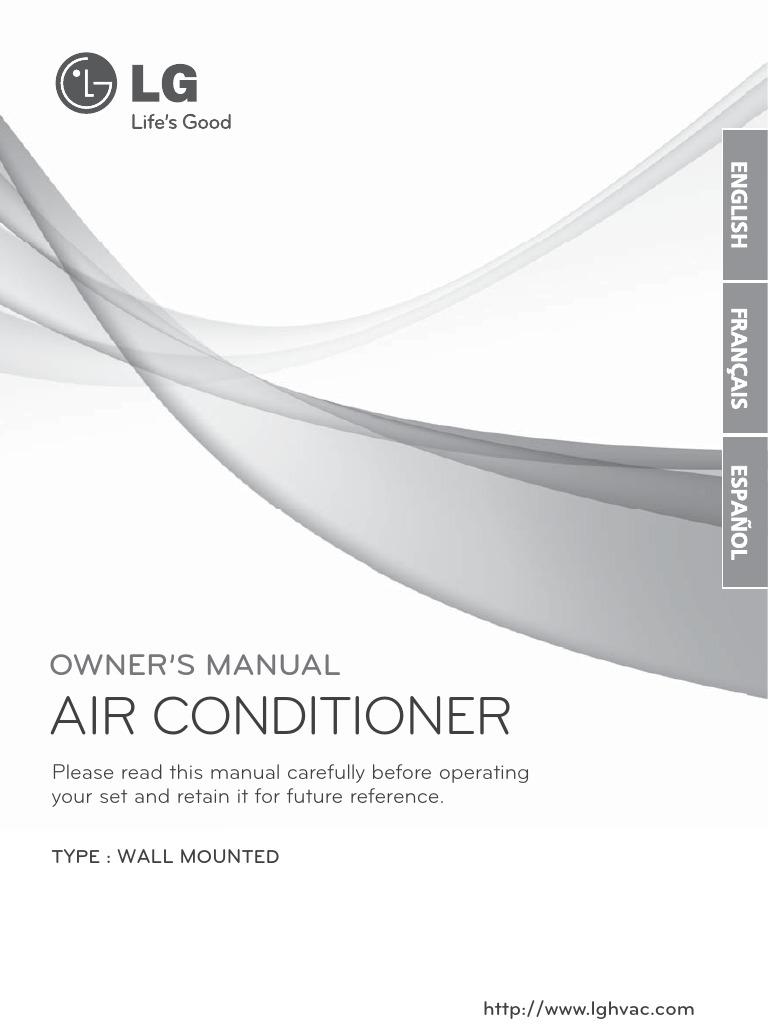 Lg Split Type Aircon User Manual