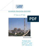 33369999 Summer Training Project Report on NTPC by Prateek Jain VIT University
