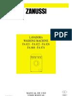 Manual Lavadora Zanussi