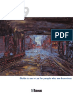 Guide to Services for people who are homeless - June 2009 - Toronto