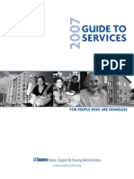 Guide to Services for people who are homeless- 2007 - Toronto