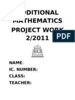 Additional Mathematics Project Work 2/2011