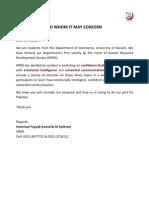 Sponorship Letter