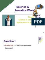 Sciences And Mathematics Week'