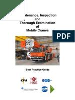 Maintenance and Thorough Examination of Mobile Cranes