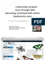 Rapidly improving Linnaean taxonomy through DNA barcoding combined with online biodiversity tools