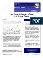 Hate Crime in Nys 2010 Annual Report