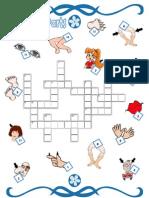 (2) Body Parts Crosswords