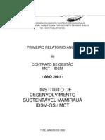 Relatório de Gestão Anual - 2001