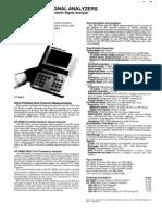 Agilent 3560A Hand-Held Dual-Channel Dynamic Signal Analyzer Data Sheet