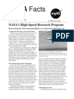 NASA Facts NASA's High-Speed Research Program 1998