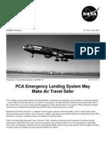 NASA Facts PCA Emergency Landing System May Make Air Travel Safer 1999