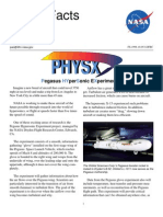 NASA Facts PHYSX Pegasus Hyper Sonic Experiment