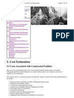 Project Management for Construction Cost Estimation