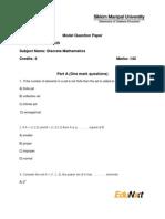 BC0039-Discrete Mathematics-Model Question Paper