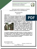 Monografia Oficial Santo Tomas La Union