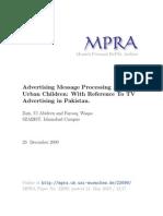 MPRA Paper 22699