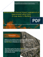 Environmental thermal impact assessment of regenerated urban form