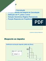 Apostila Controle - 07 - Integral de Convolução, Função de Transferência e Função Resposta em Frequência