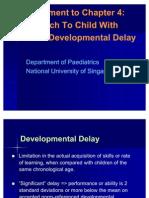 Supplement to Chapter 4 - Developmental Problems
