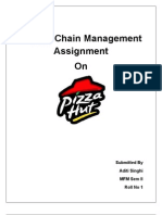 SCM Assignment Pizza Hut
