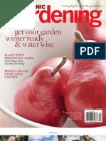 Organic Gardening Magazine. January 2011