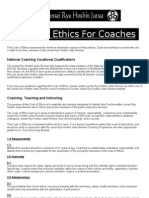 Final Code of Ethics for Coaches