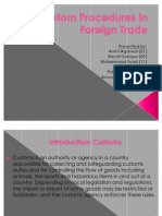 Custom Procedures in Foreign Trade
