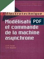 Modélisation et commande de la machine asynchrone Par Jean-Pierre Caron-Jean-Paul Hautier
