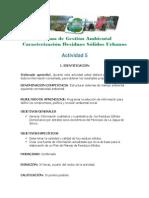 Actividad 5 Caracterizacion de Residuos Solidos