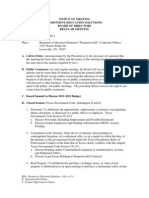 RES Board Agenda - July 2011