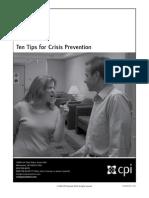 09-CPI-InT-007 Infocap10 Tips Crisis Prevention