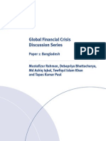 Bangladesh - Report (Global Financial Crisis Discussion Series)