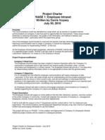 Employee Intranet Project Charter
