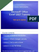 Excel 2007 Training