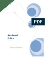 Patrick-Gitau Anti Fraud Policy